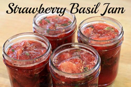 recipe strawberry basil jam