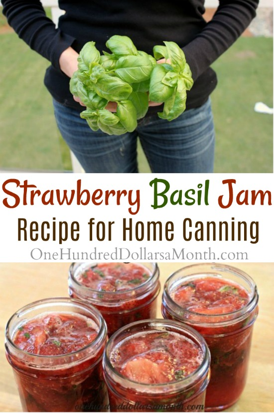 Canning 101 – Strawberry Basil Jam Recipe