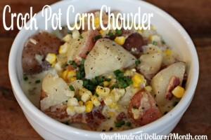 Easy Crock Pot Meals  Corn Chowder