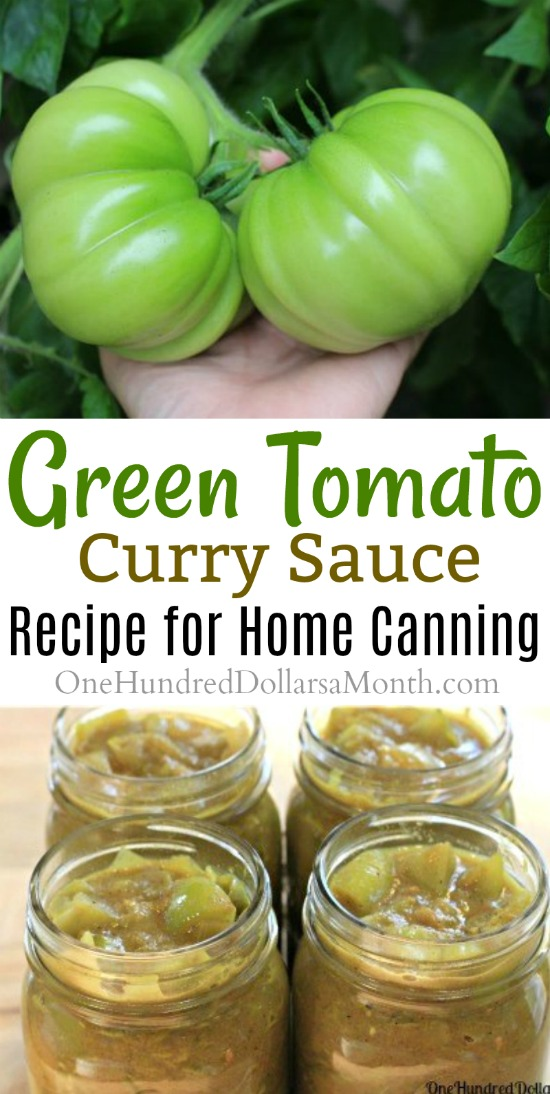 Canning 101 – Green Tomato Curry Sauce