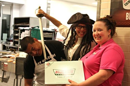 Krispy Kreme | Dress Like a Pirate – Get a FREE Dozen Glazed Doughnuts!