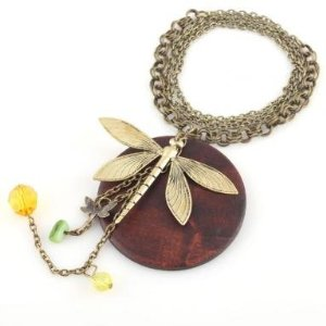 Amazon Jewelry – Wood Dragonfly Pendant Necklace Only $1.89 Shipped!