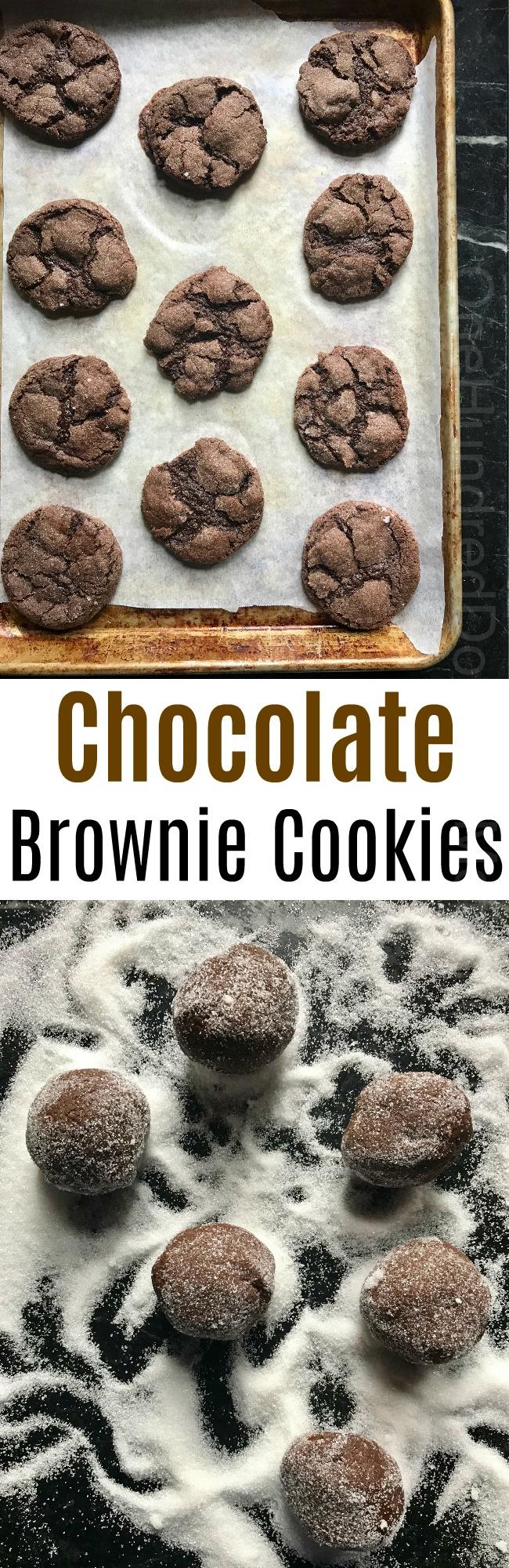 Bake Sale Recipes – Chocolate Brownie Cookies