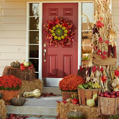Front porch decorating ideas for fall one hundred - Fall front porch ideas ...
