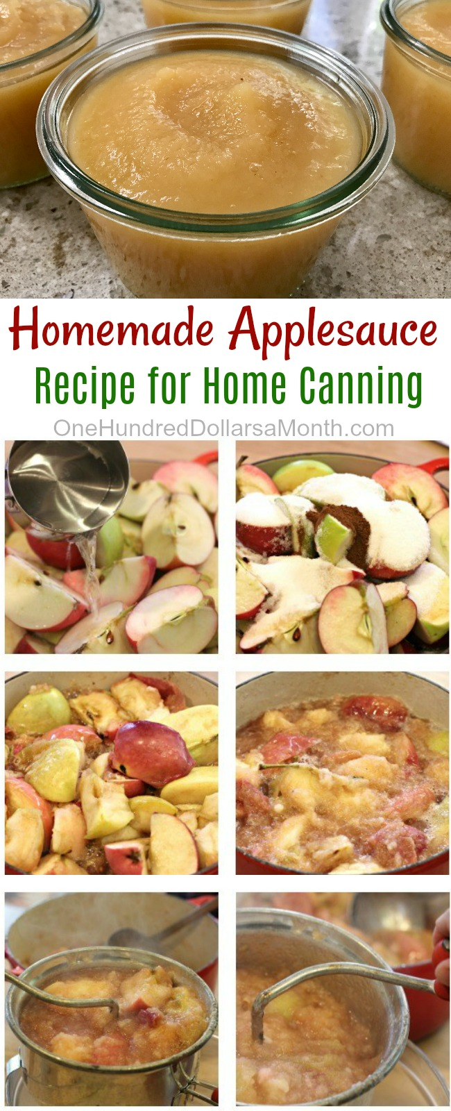 Canning 101 – How to Make Homemade Applesauce