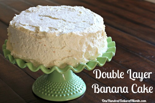 Recipe – Double Layer Banana Cake
