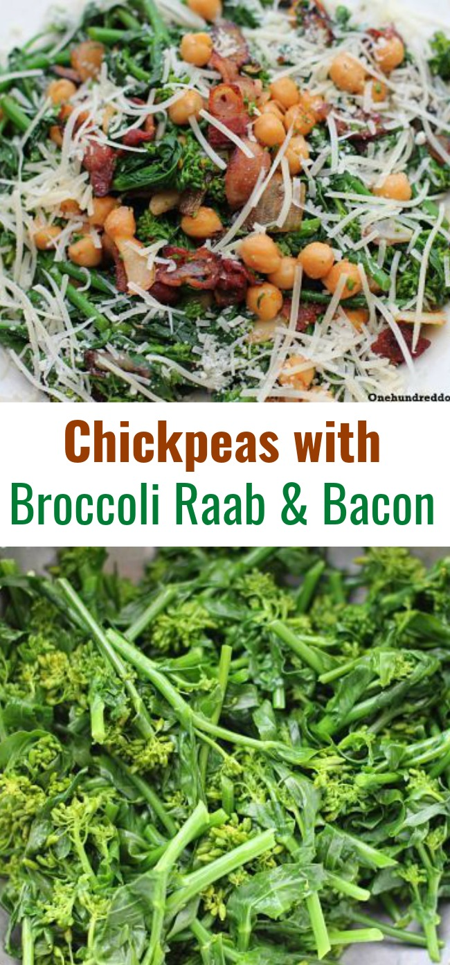 Chickpeas with Broccoli Raab and Bacon Recipe