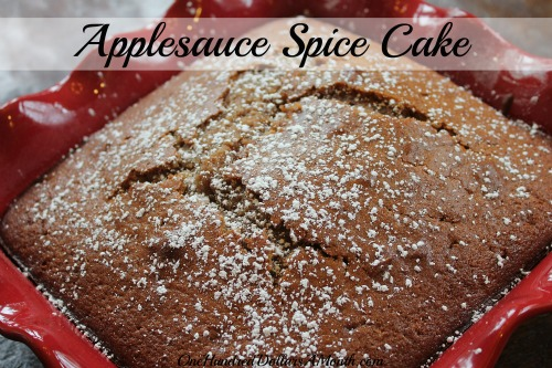 Easy Apple Recipes – Applesauce Spice Cake