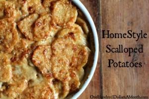 easy side dish recipes scalloped potatoes