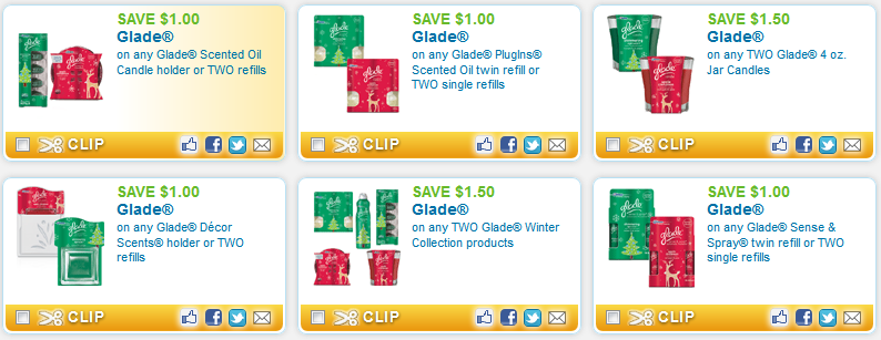 12 New Glade Coupons – Candles, PlugIns, Oils, Room Sprays + More