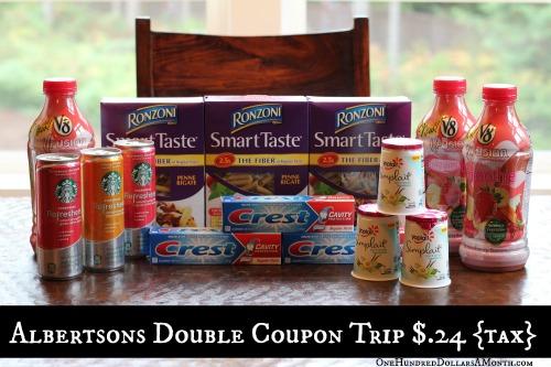 Shopping with Mavis   Albertsons Double Coupon Shopping Trip