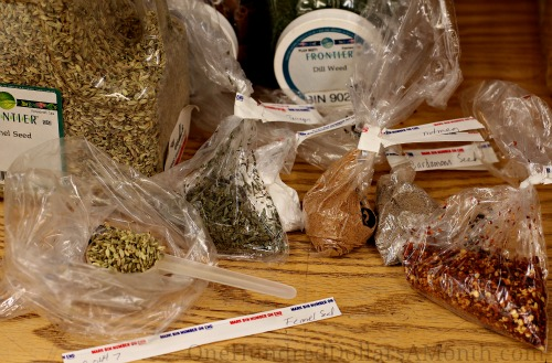 How to Save Money at the Grocery Store – Buy Spices from Bulk Bins