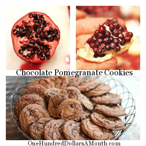 25 Days of Christmas Cookies – Chocolate Pomegranate Cookies