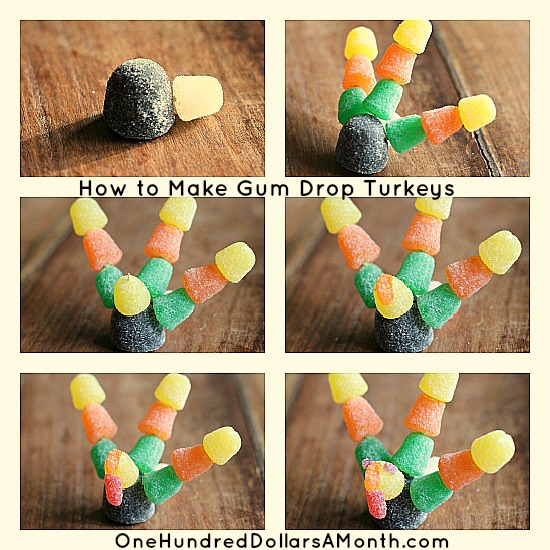 How to Make Gumdrop Turkeys