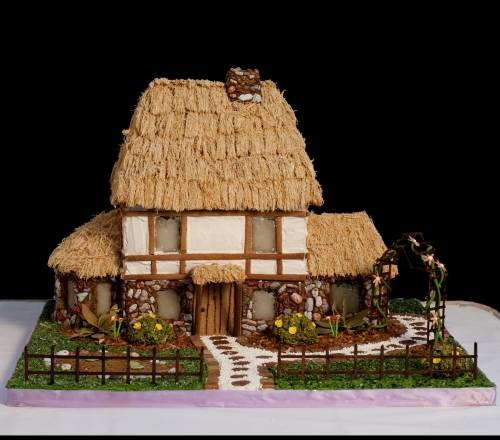 Pictures of decorated gingerbread houses one hundred for Gingerbread house themes