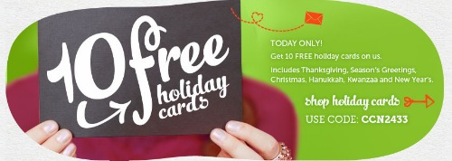 10 FREE Holiday Cards + FREE Shipping at Cardstore!