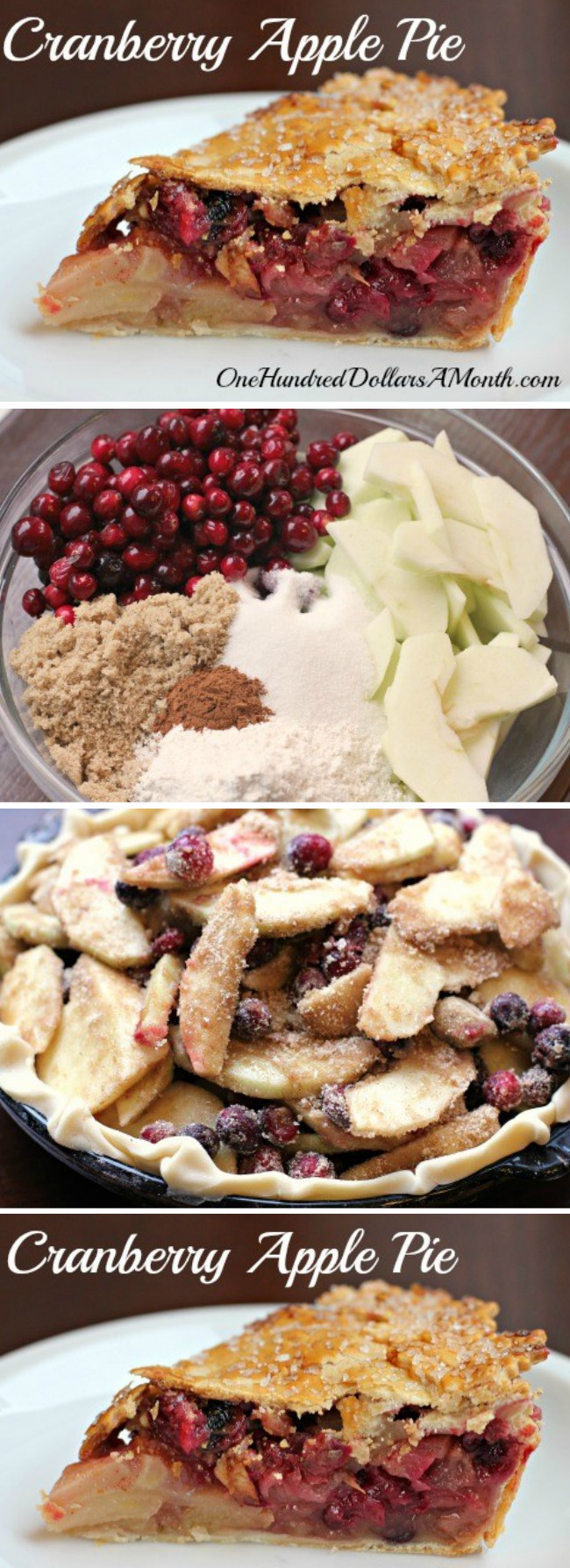 Thanksgiving Dessert Recipes – Cranberry Apple Pie