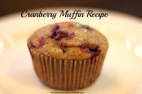 Sunday Brunch Recipes – Cranberry Muffins