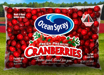 New Coupons – Ocean Spray Cranberries, Green Giant Vegetables, Power Bars, Jimmy Dean