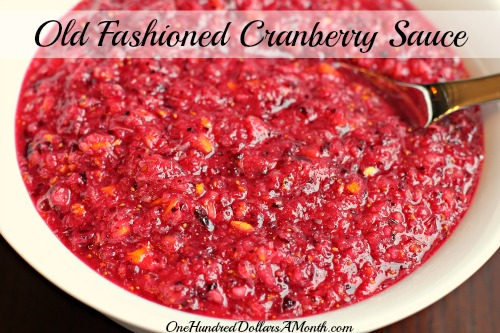 old fashioned cranberry sauce recipe