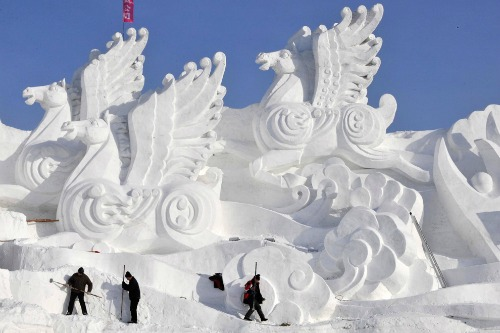 Snow Sculptures From Around the World