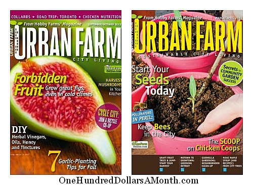 1 Year Subscription to Urban Farm Magazine Only $4.50!