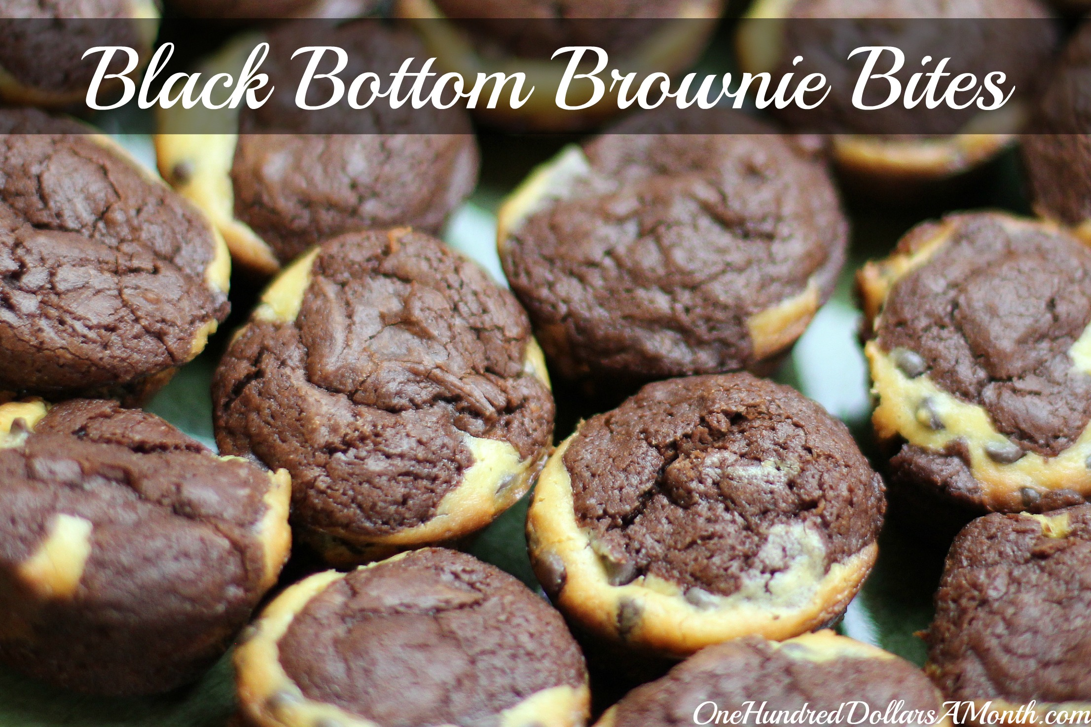 25 Days of Christmas Cookies – Black Bottom Mini Brownie Bites