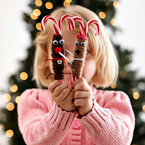 Easy christmas craft ideas for kids root beer reindeer for Candy cane crafts for adults