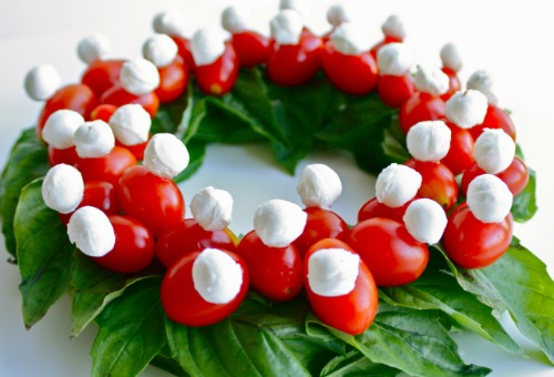 Image result for Christmas salad with mozzarella and olives