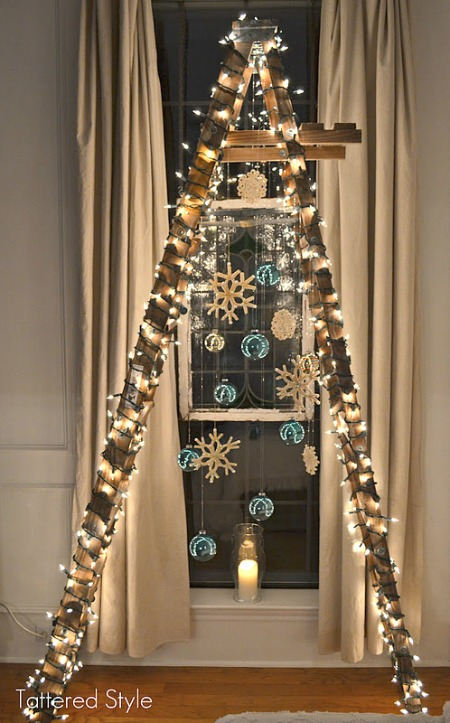 Cool unique christmas trees ladder