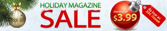 Discount Mags – Holiday Magazine Sale Starting at $3.99 a Year!