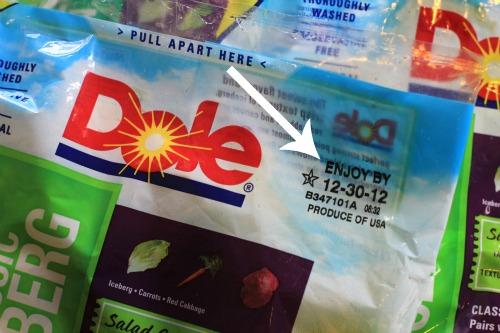 dole bagged lettuce
