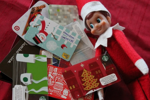 elf on the shelf gift cards