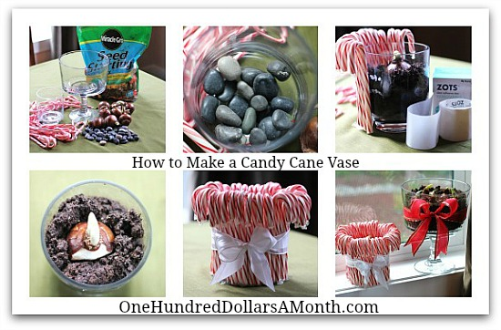 How To Make A Candy Cane Vase