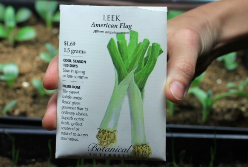 American Flag Leek botanical interests seed packet