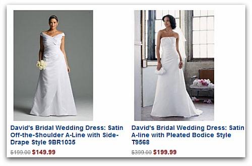 David's bridal sale