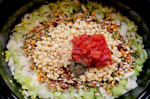 Easy Crock Pot Recipes - 13 Bean Vegetarian Soup