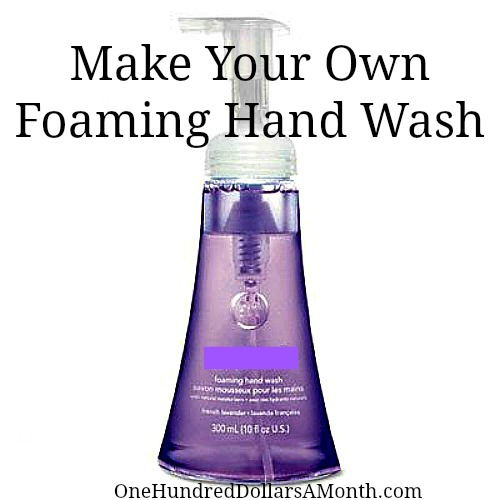 Make your own foaming hand wash