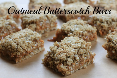 Oatmeal Butterscotch Bars Recipe