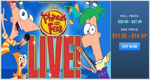 Phinaes and Ferb tickets