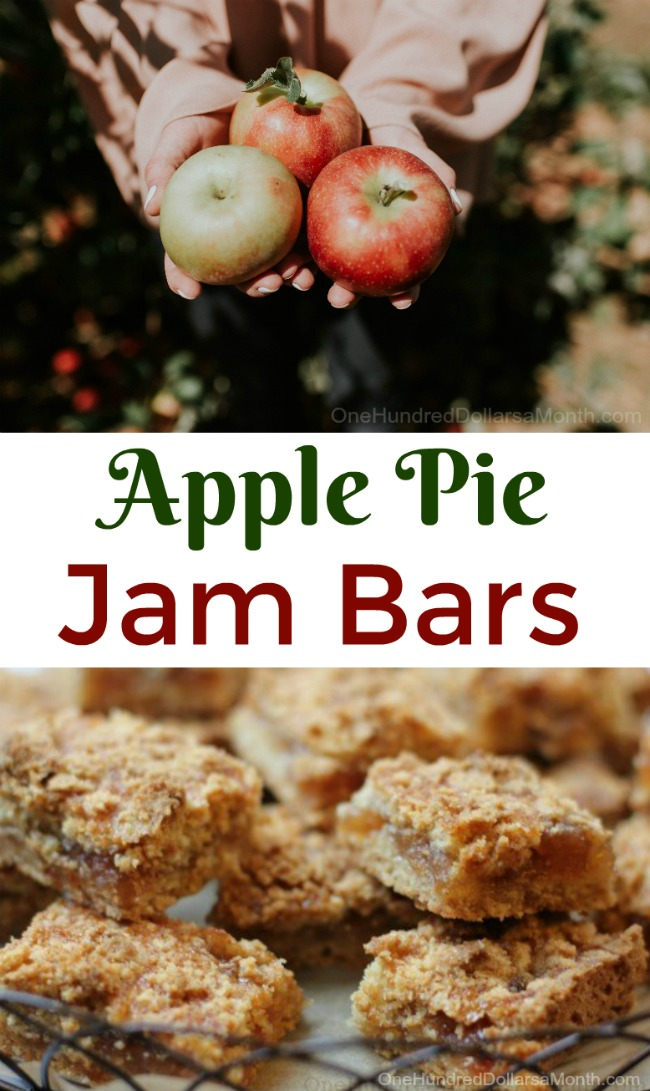 Easy Apple Recipes – Apple Pie Jam Bars