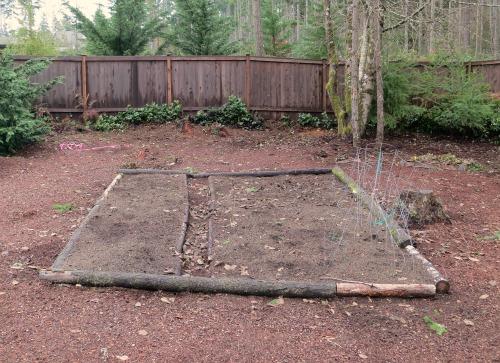 backyard garden plot