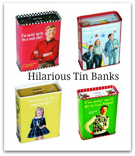 funny tin bank