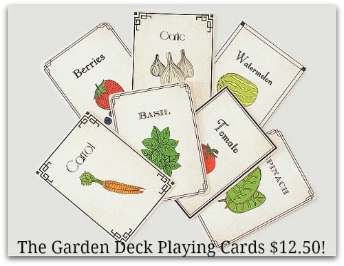 garden deck playing cards