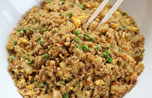 Easy Quinoa Recipes - Quinoa Fried Rice