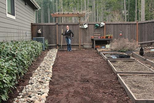 Mavis Garden Blog Rock Border Is Now Complete One