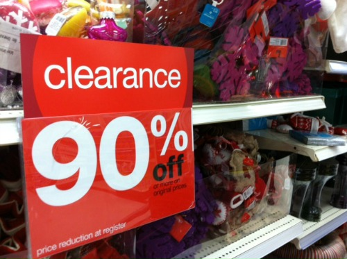target christmas clearance sale