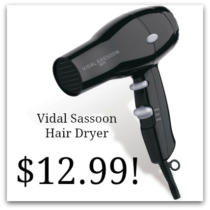 vidal sasson hair dryer