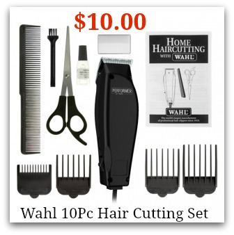 wahl clipper set 10 piece