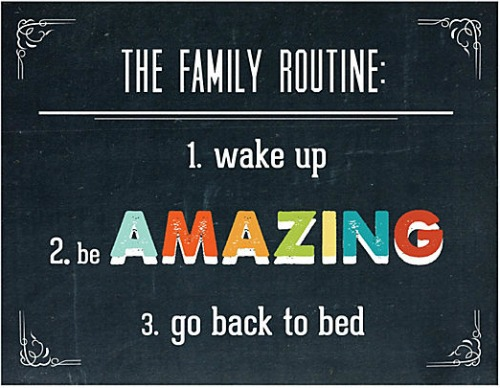 wake up be amazing go nack to bed
